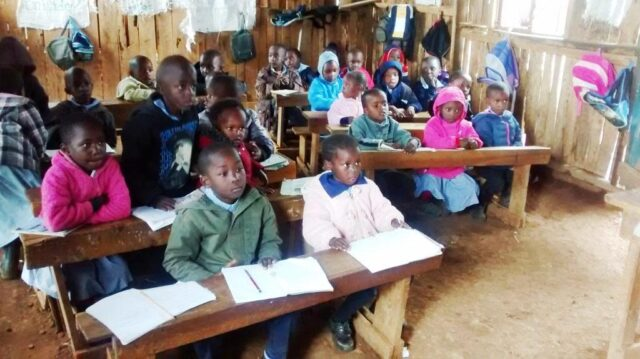 The children in the classroom