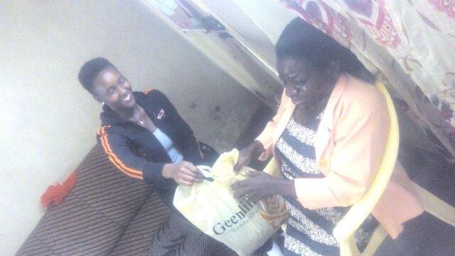 receiving her gift