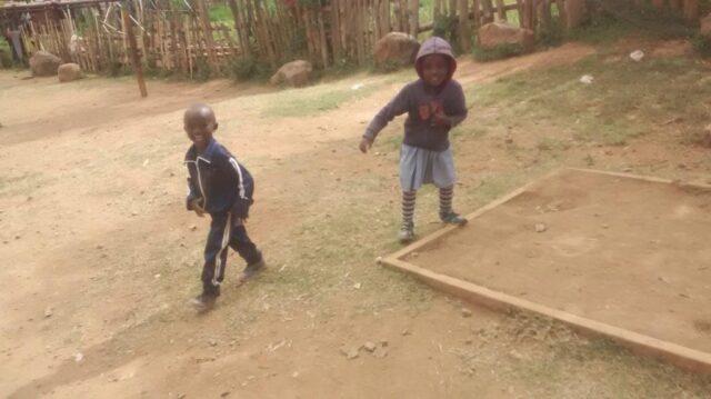 joseph and wangeshi running around