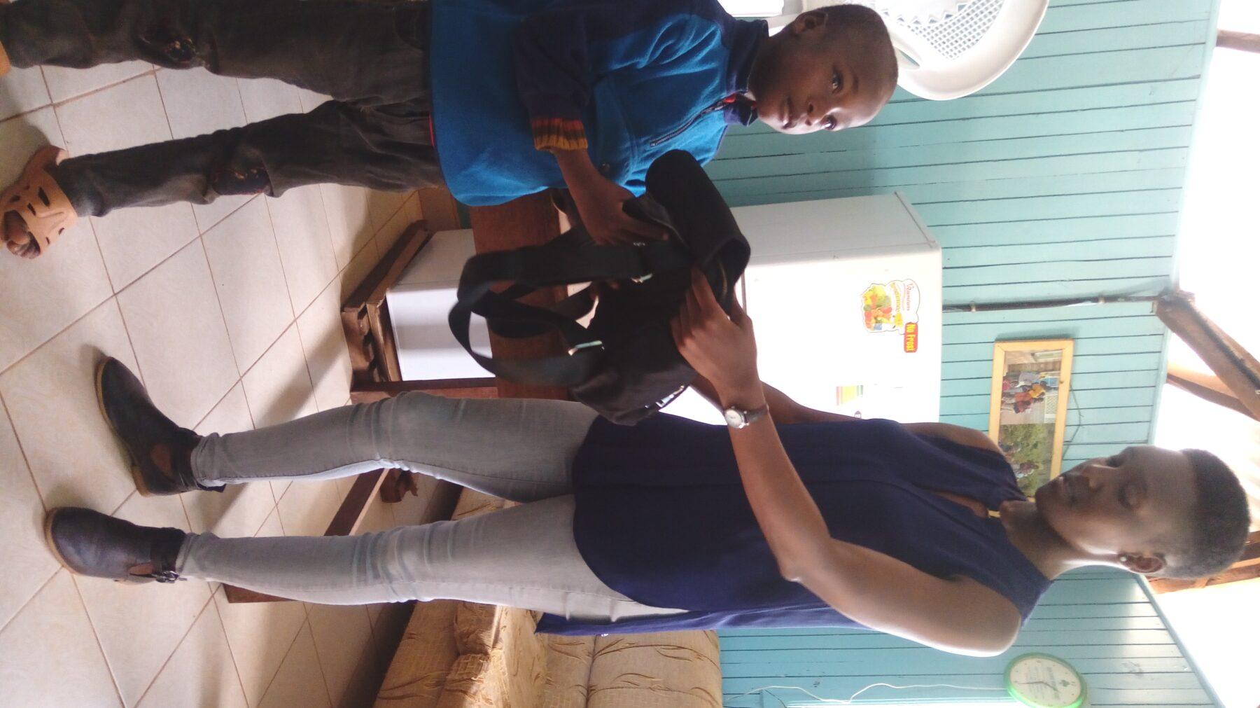 Samuel receiving his gift