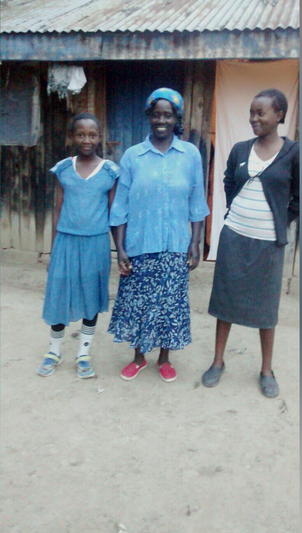 Editta Mugure's family