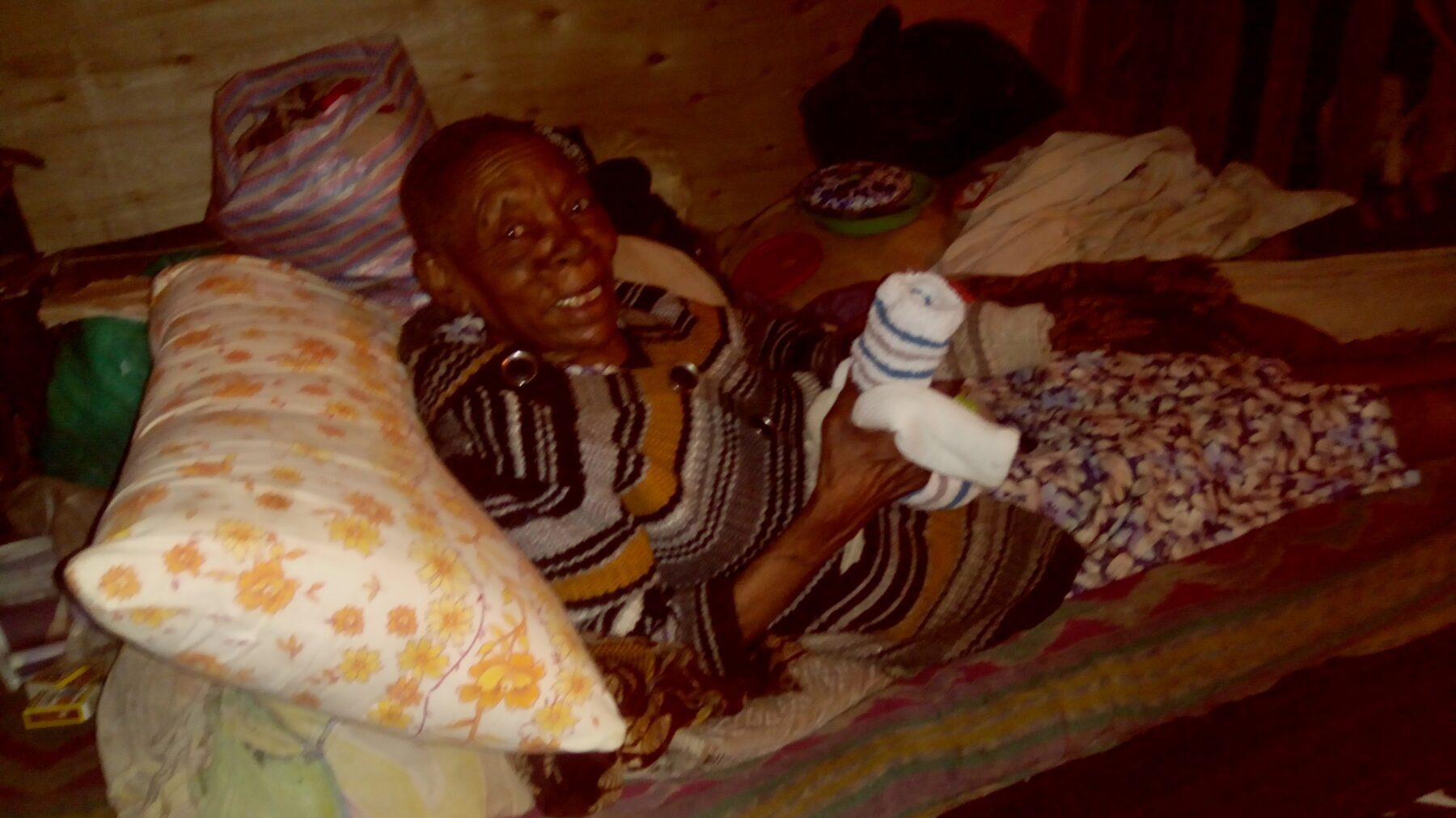 Mary wairimu happy to have new socks