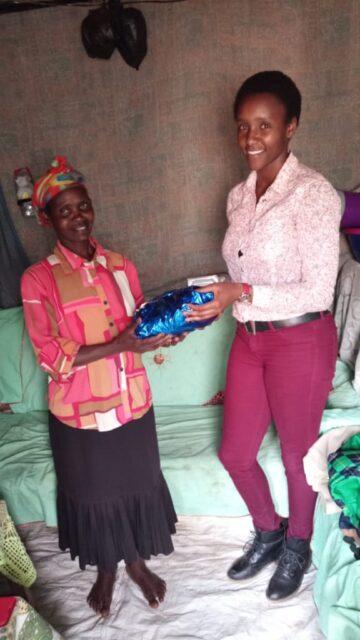 Josephine receiving her gift from shiro