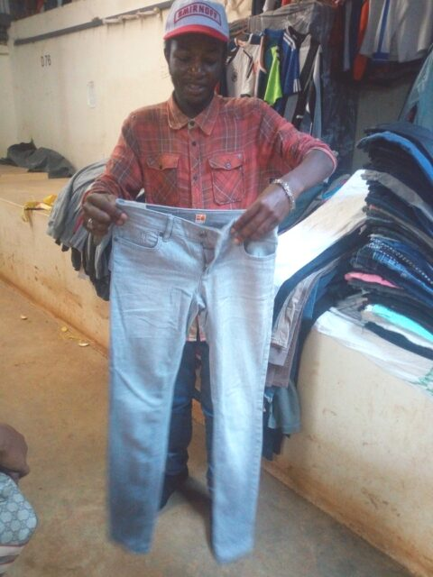 Kevin checking out his new trouser