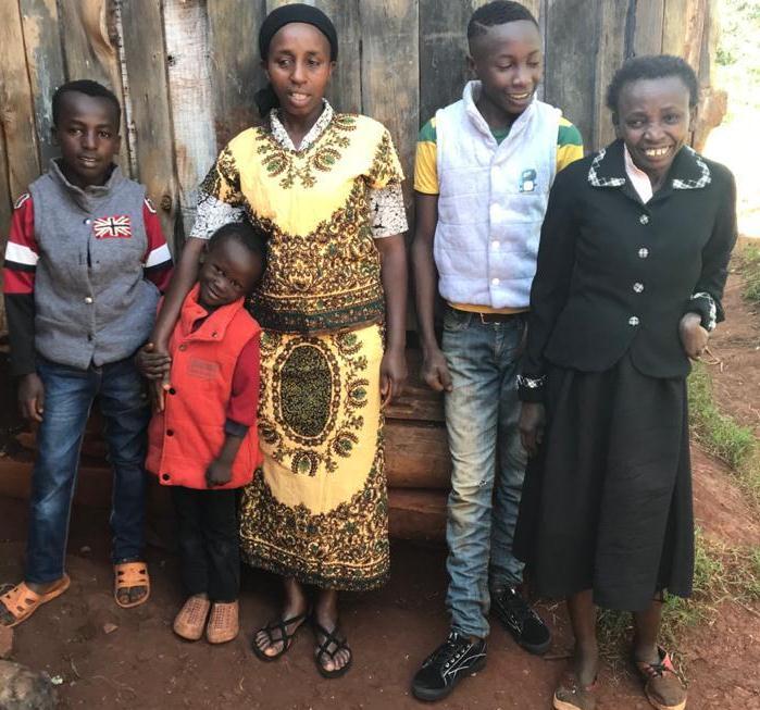 Catherine Wanjiru's family all happy
