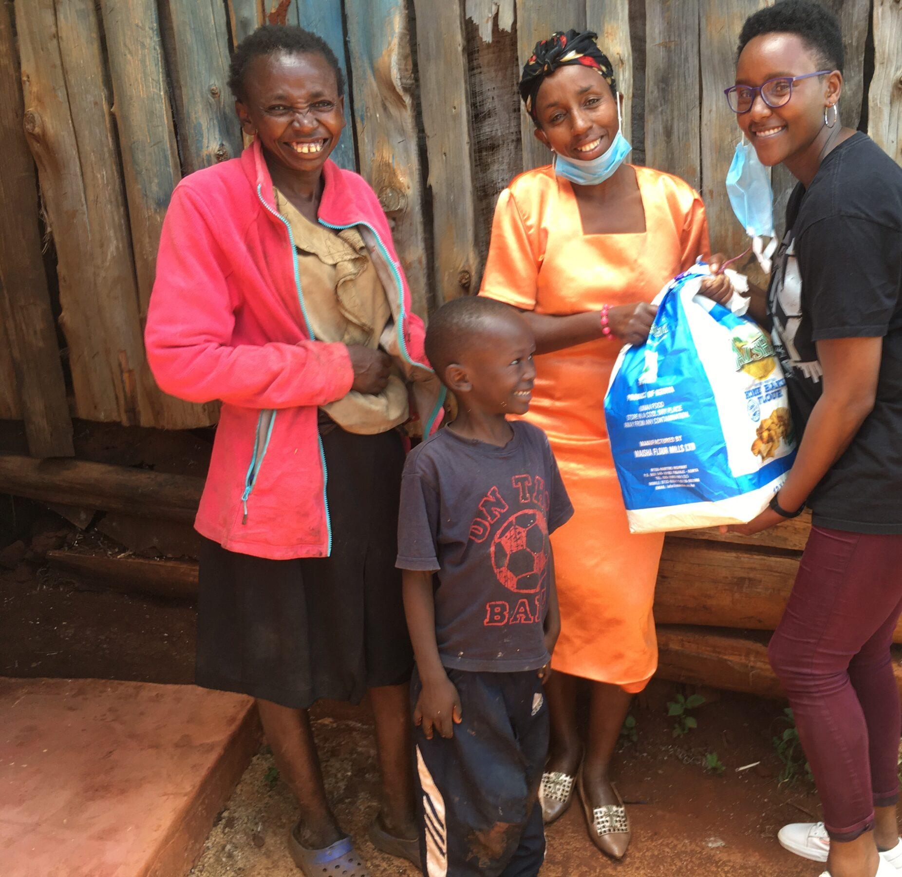 Catherine Wanjiru's family happy to receive food stuff from shiro